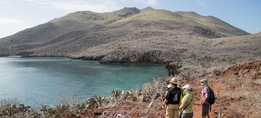 eine Gruppe Leute auf Galapagos
