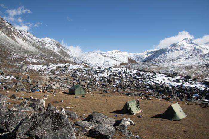 kalte Zeltnächte auf dem Snowman Trek in Bhutan