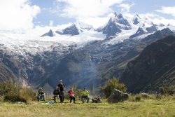 die Gletscher in der Cordillera Blanca