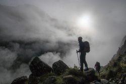 auf Wanderung in der Cordillera Blanca