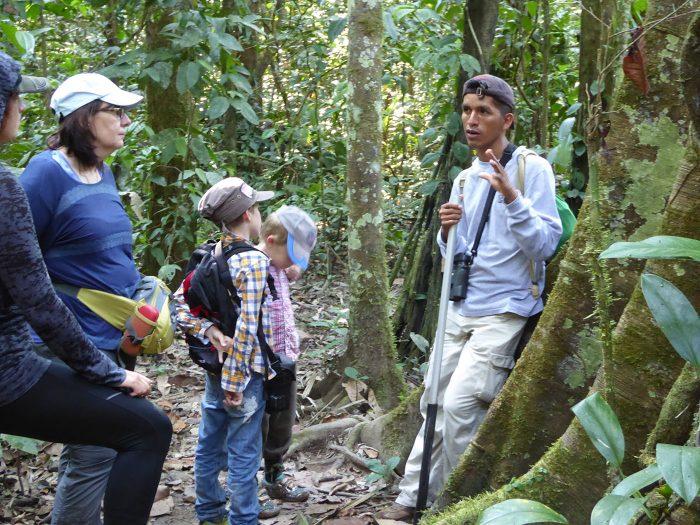 unterwegs im Amazonas mit unserem guide