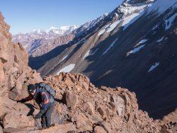 bergrat mit bergsteiger