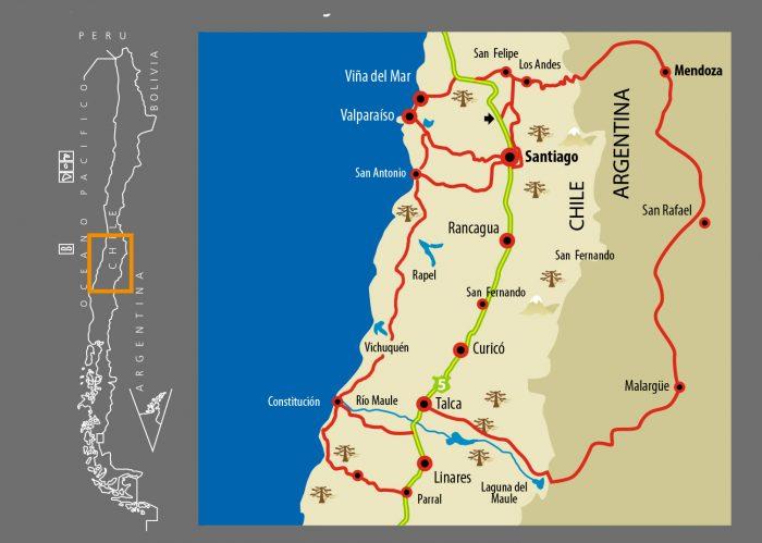 Karte Trans-Andina