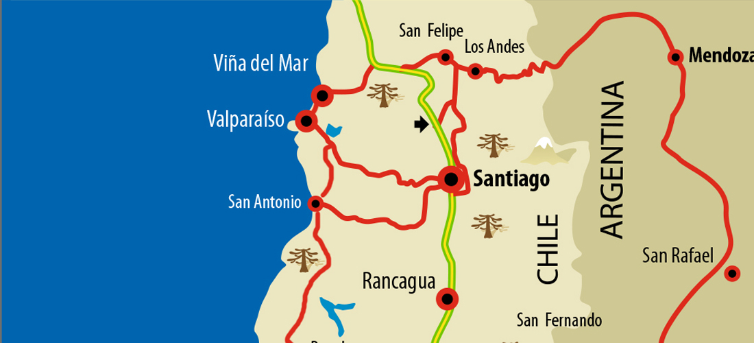Interaktive Reisekarte