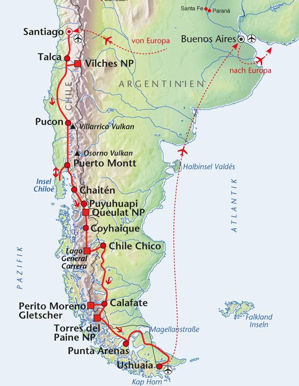"Patagonien Reise ""Land des Windes"""