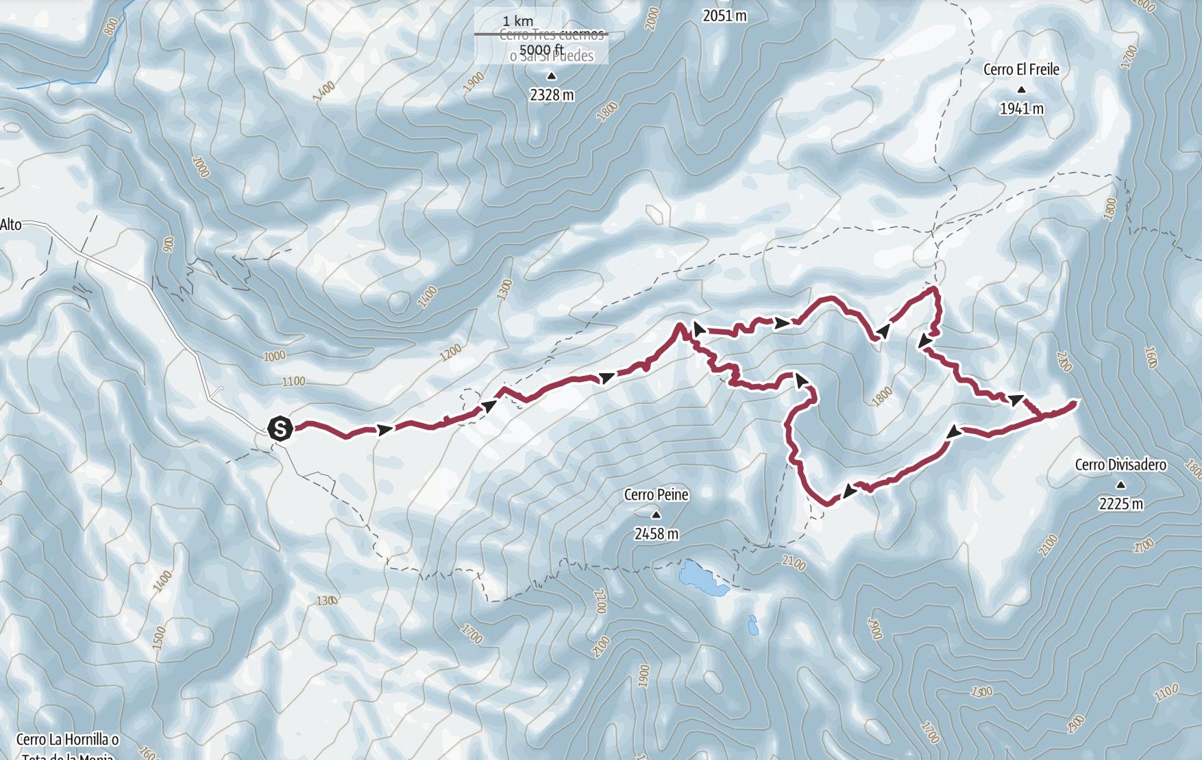 Enladrillado Trail