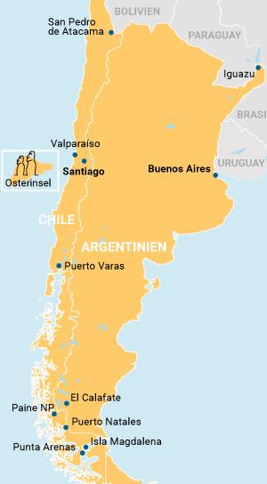 Atacama und Patagonien