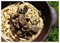 Spaghetti and Mushrooms