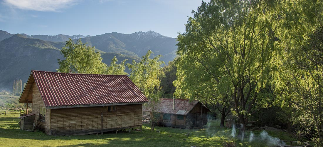 Mountain huts in the Andes