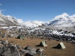 campamento en bután