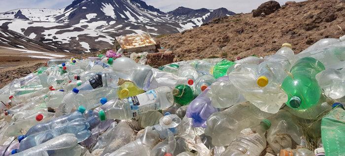 residuos en los refugios de montaña